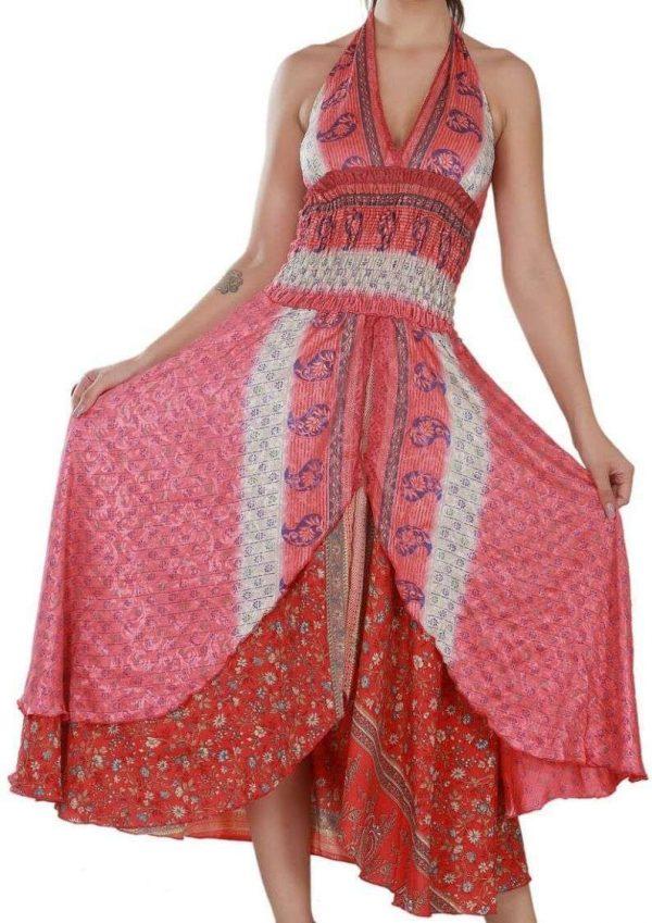 Women's Sleeveless Halter Casual Summer Sundress-Pack Of 3