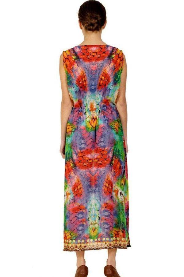 Lot of 03 Casual V Neck Beach Dresses Long Maxi Dress