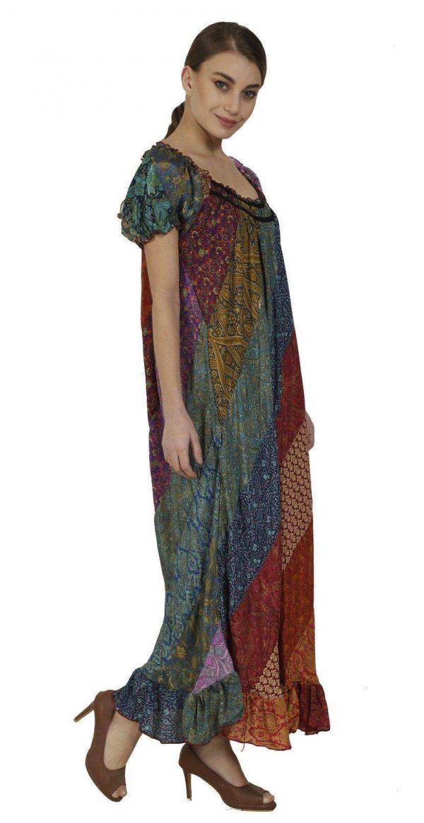 Wevez Pack of 03 Multicolour Ruffle Frill Dress