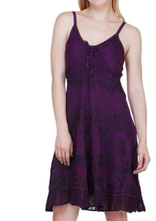 Wevez Women's Sleeveless Summer Beach Casual Mini/Short Dress