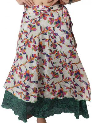 Pack of 3 Pcs Original Two Layer Printed Wrap Around Skirts (Multiple Size Available)