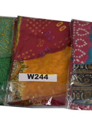 Lot of 3 Art Silk Reversible Indian Short Magic Skirts (Choice Available)