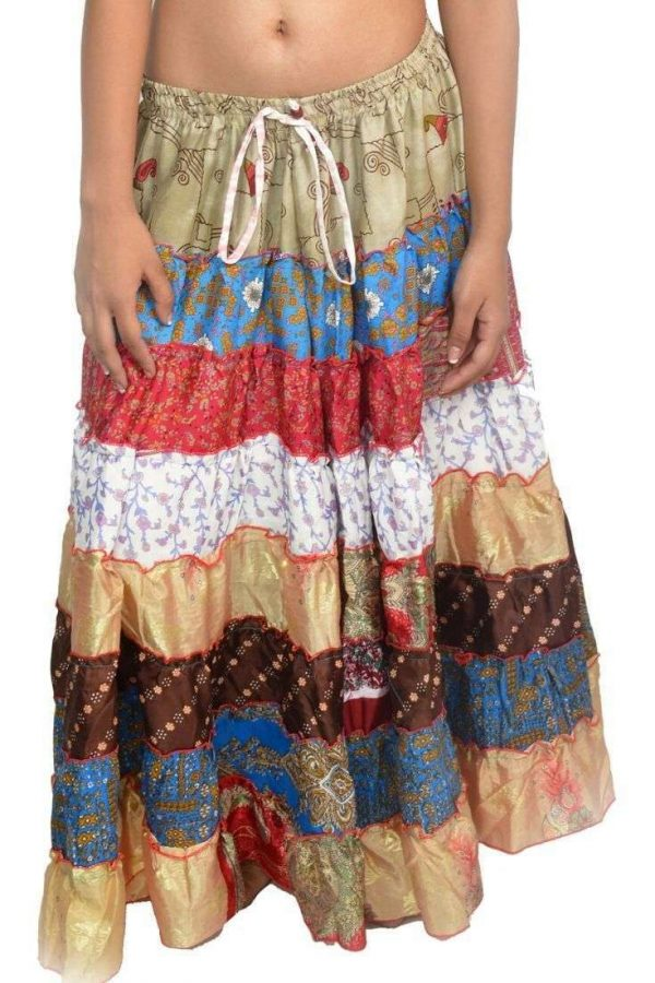 Pack of Women's Tribal Style 7-Layer Skirt, One Size, Assorted