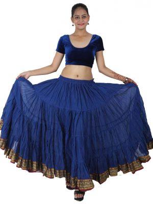 Wevez 25 Yard Padma Cotton Tiered Flounce Maxi Full Skirt