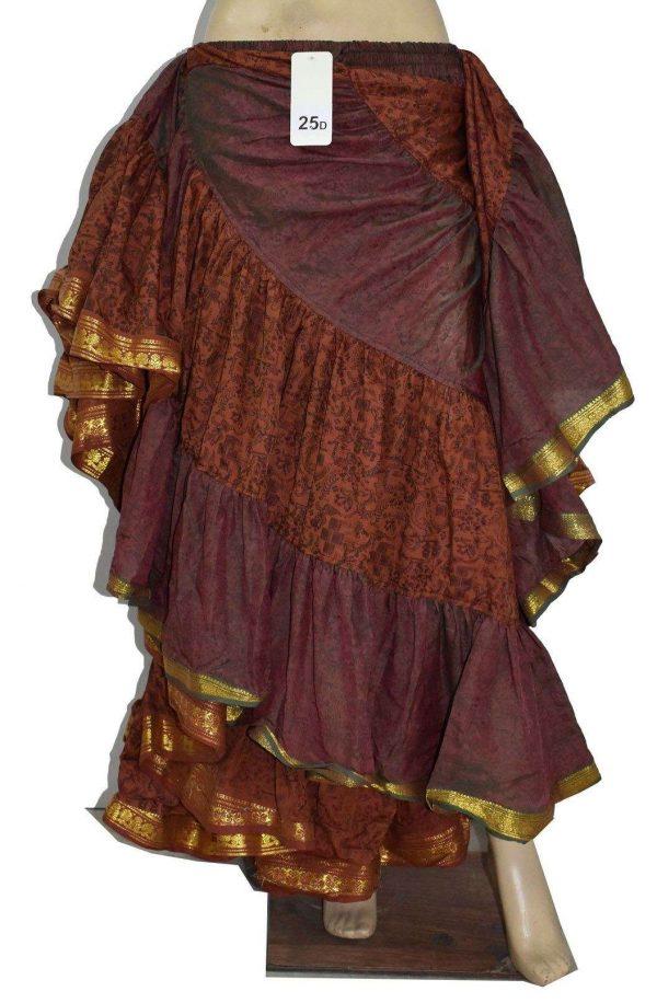 Printed Art Silk 25 Yard Saree Skirt Sale