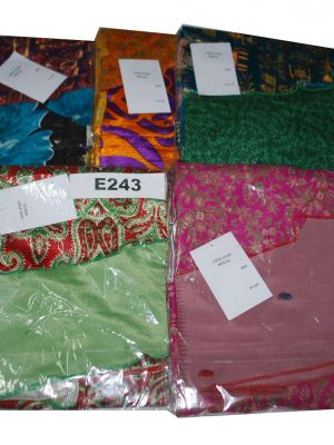 pack of 5 Pcs Small Saree Vintage Wrap Skirts - Choice Available