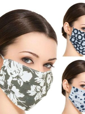 Pack of 100 Cotton Face Masks Washable and Reusable