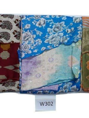 Pack of 3 Indian Reversible Magic Sari Art Silk Wrap Around Skirt (Choice)