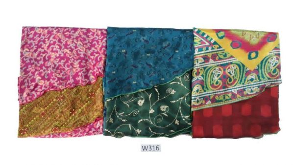 Pack of 03 Women's Printed Midi Length PLUS SIZE Sari Wrap Skirt (Choice Available)