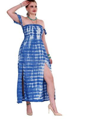 232017 - off shoulder slit dress
